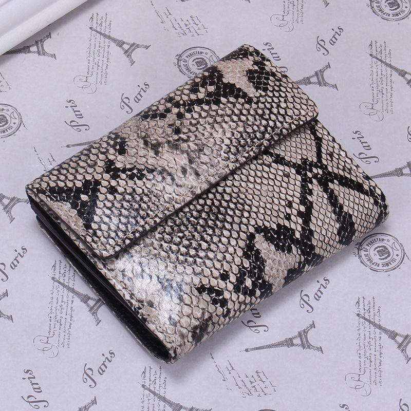 2018 Women Genuine Leather Bag Alligator Ostrich Serpentine Wallet Card Money Holder Clutch Purse Short Wallets Glod Pocket anime cartoon pocket monster pokemon wallet pikachu wallet leather student money bag card holder purse