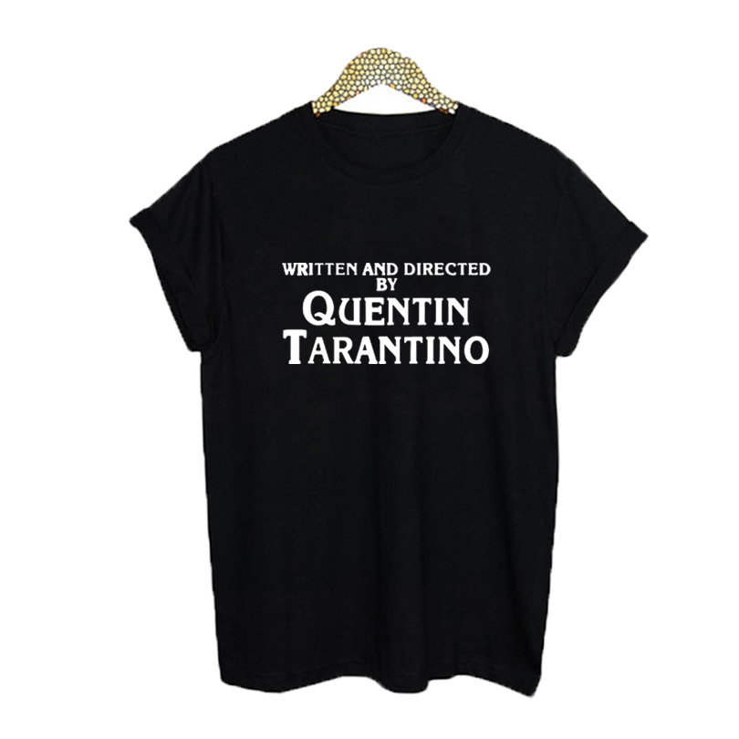 Women T Shirt Hipster Black White Print Quentin Tarantino Womens Clothing Fashion Letter Tshirt Cotton Tops Tee Shirt Homme