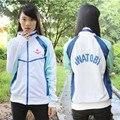 Anime Grátis! Iwatobi Swim Club Haruka Nanase Cosplay Jacket Hoodie Unisex Escola Desgaste Do Esporte Para Homens Mulheres Unissex