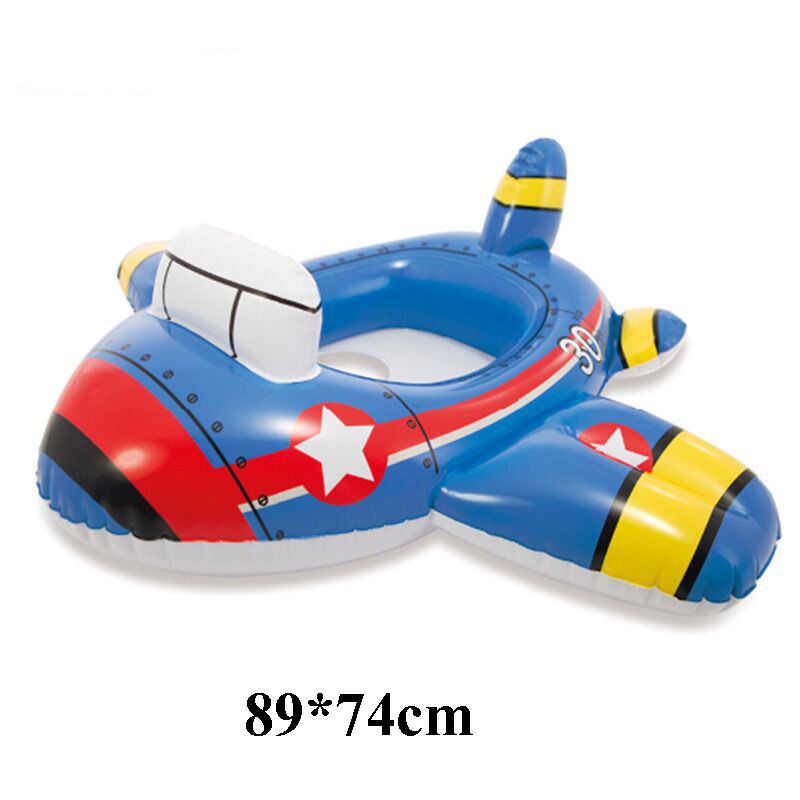 Cartoon Baby Swimming Pool Swim Seat Ring Float  For 0-2 Years Rattle inside,Fire Rescue, Patrol Boat,Summer Toys
