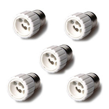 10 Pcs Wholesale Auraglow E27 to GU10 Lamp Light Bulb Base Socket Converter Adaptor 5 pack(China)