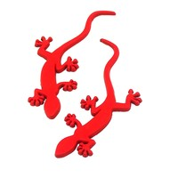 Gecko Lizard Quattero 3D Metal Ho Car Auto Motorcycle Logo Emblem Badge Car Styling Stickers Automobiles Car-Styling Accessories