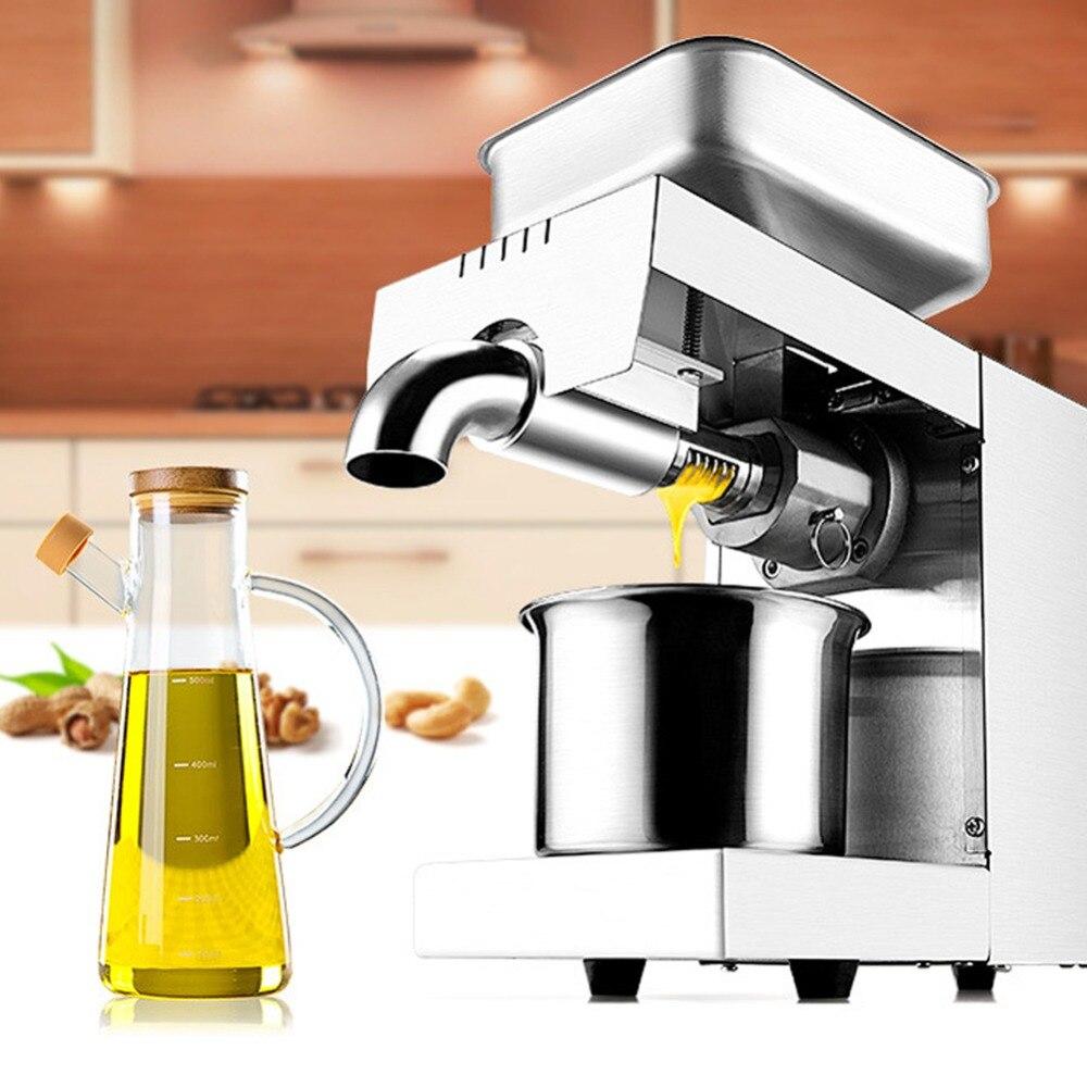 Mini presse à huile froide électrique Machine pression raisins fèves de cacao ménage pour les appareils d'extraction huile de presse de Production d'arachide