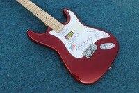 Горячая Металлическая красная электрогитара ST, 59 переиздана, R9 шаблон клен Топ, высокое качество бесплатная доставка.