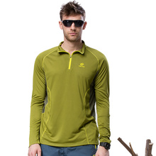 Dropshipping Spring Outdoor Long Sleeve Hiking Coolmax Breathable Sport Running Sweatshirt Camp Fishing men quick dry t shirt