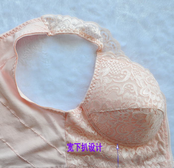 5c57adc3bd7 2016 New Women Zipper Bra Push Up Crop Top Seamless Underwear ...