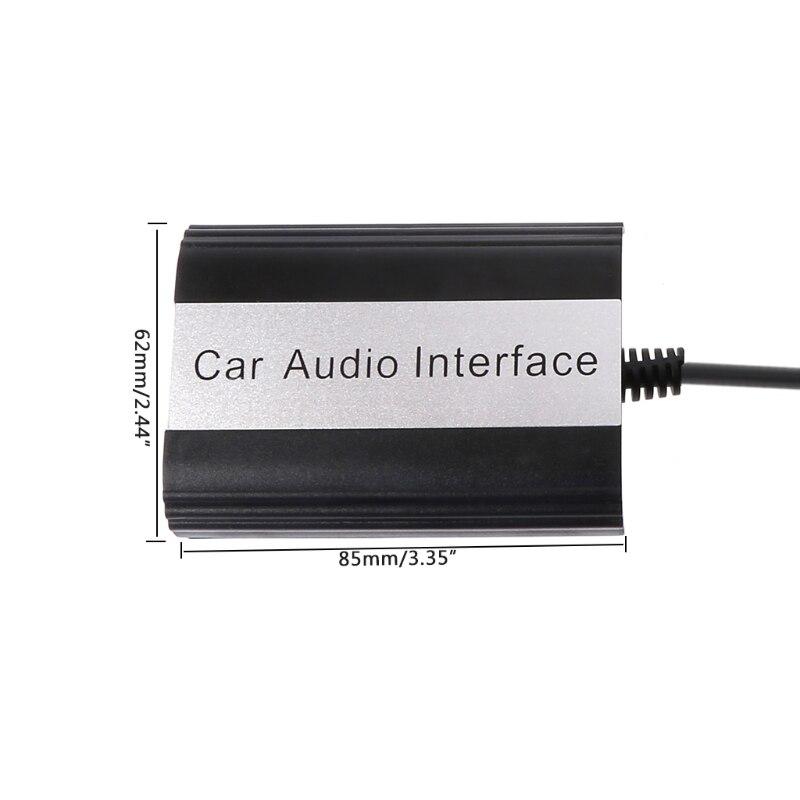1 kit kit mains libres Bluetooth pour voiture Interface adaptateur MP3 AUX pour VW Audi Skoda 12PIN accessoires auto - 5