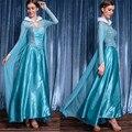2017 Новый взрослый Золушка костюм Алиса Принцесса высокое качество синий Снежная Королева косплей костюм хэллоуин костюмы для женщин