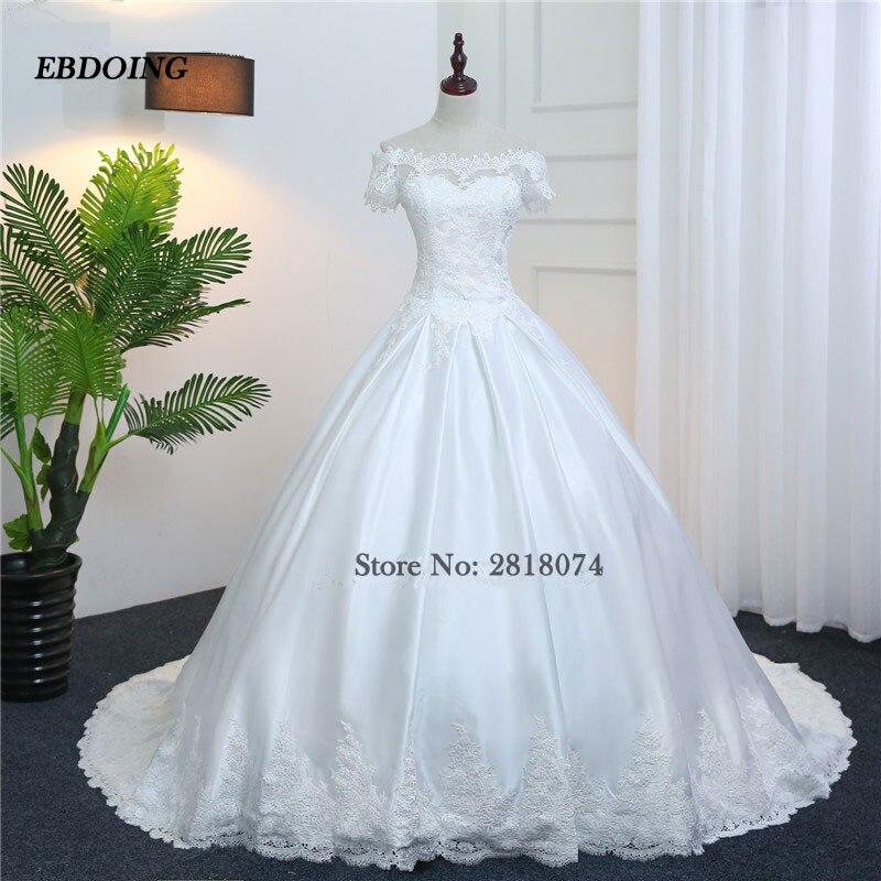 Real Photo Vestidos De Novia Ball Gown Wedding Dresses 2017 Custom Made  Robe De Mariage Plus Size Wedding Gown With Embroidery