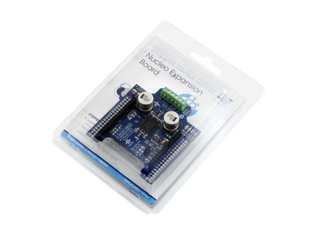 Original STM32 Nucleo Board X-NUCLEO-IHM03A1 High Power Stepper Motor Driver Expansion Board Based Power STEP01 Free Shipping modules waveshare rpi motor driver board raspberry pi a b 2b 3b expansion dc motor board for diy mobil robot stepper motor d