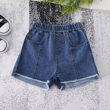 Комплект детской летней Джинсовые шорты новые детские джинсы для мальчиков детские штаны в Костюмы для маленьких девочек Повседневное дикие ковбойские шорты детские брюки для девочек