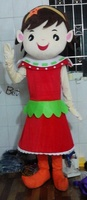 cosplay costumes Lovely Red Dress Girl Mascot Costume Halloween gift costumed characters sex dress hot sale