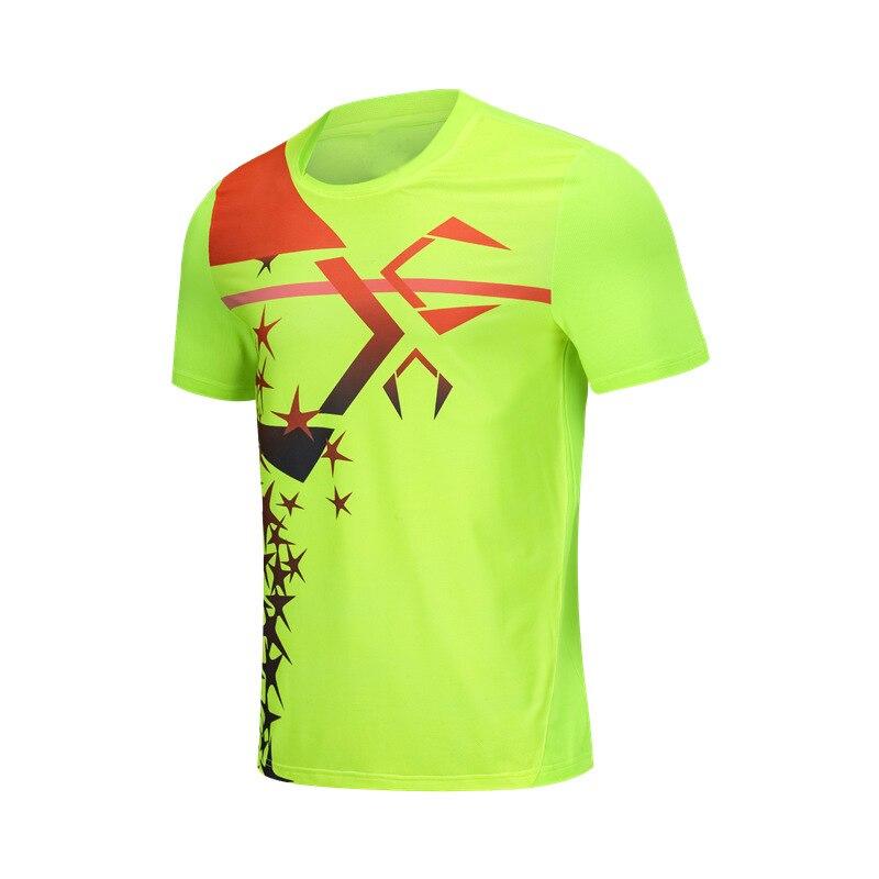 2018 New Men Tennis T shirts , Quick dry Male Badminton T shirt , Table Tennis Training Uniform , Ping Pong T-shirts SportWear