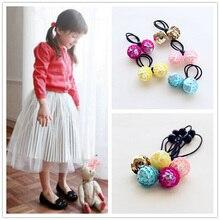 Sequin Pineal Ball niños cuerdas de pelo niñas accesorios niños Headwear  Simple Charm lindas bandas elásticas 2d169a0b1ff0