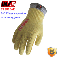 INXS ST58106K High Temperature Anti Cutting Gloves 100 Degree Thermal Contact Protection Gloves Wearable Anti Cut