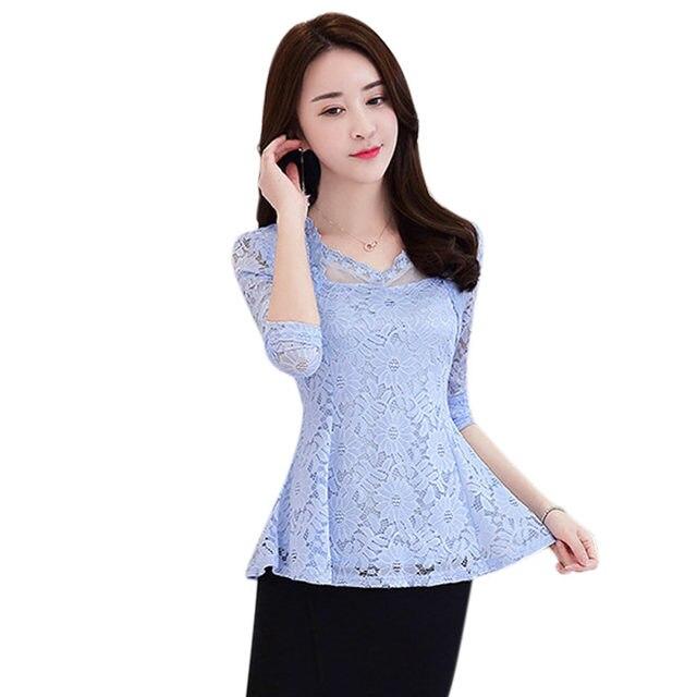 Women Spring Lace Shirts...
