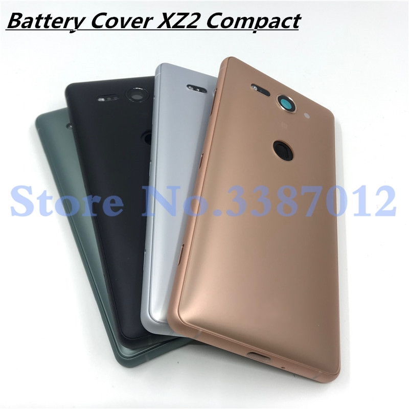 Original 5.0'' For Sony Xperia XZ2 Compact Back Battery Cover Rear Door Back Case Housing Case For Sony XZ2 Mini Battery Cover