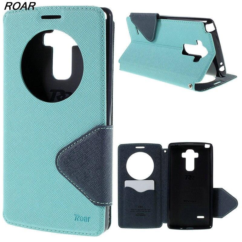 Orange Fall Für LG G4 Roar Korea Tagebuch Window View Leder Fall für LG G4 H810 H815 F500 F500K F500L