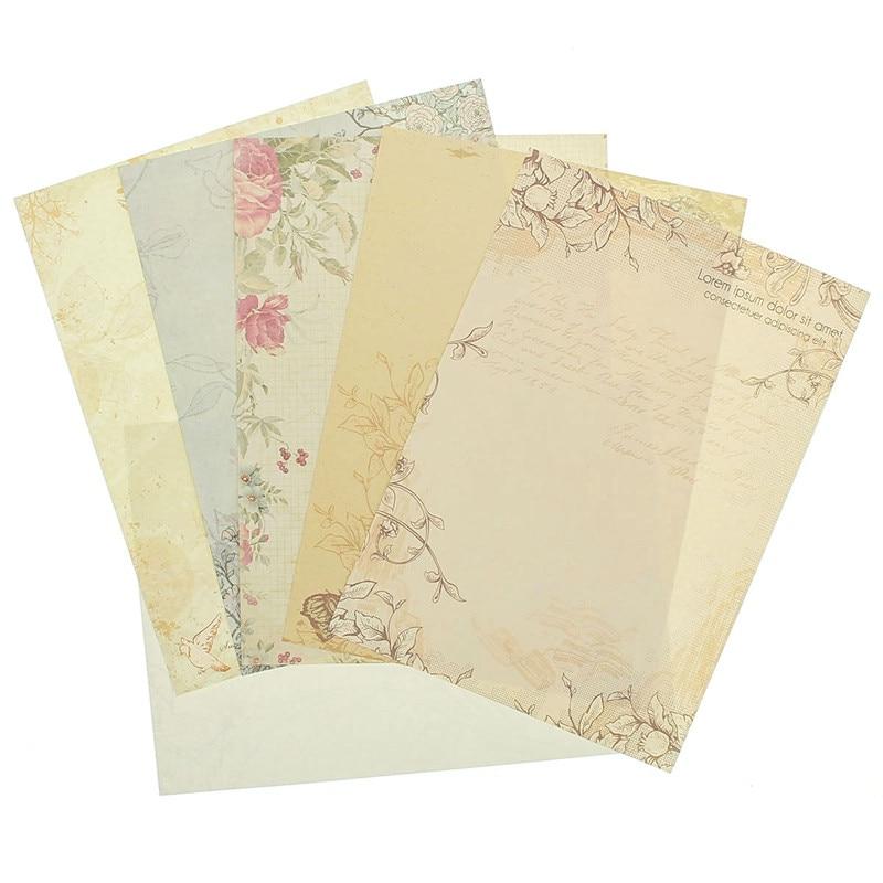 Kicute 10 Sheets European Pastoral Style Retro Love Letter