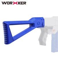 労働者ak型absショルダーテールストック銃床おもちゃアクセサリー用nerfおもちゃの銃-透明