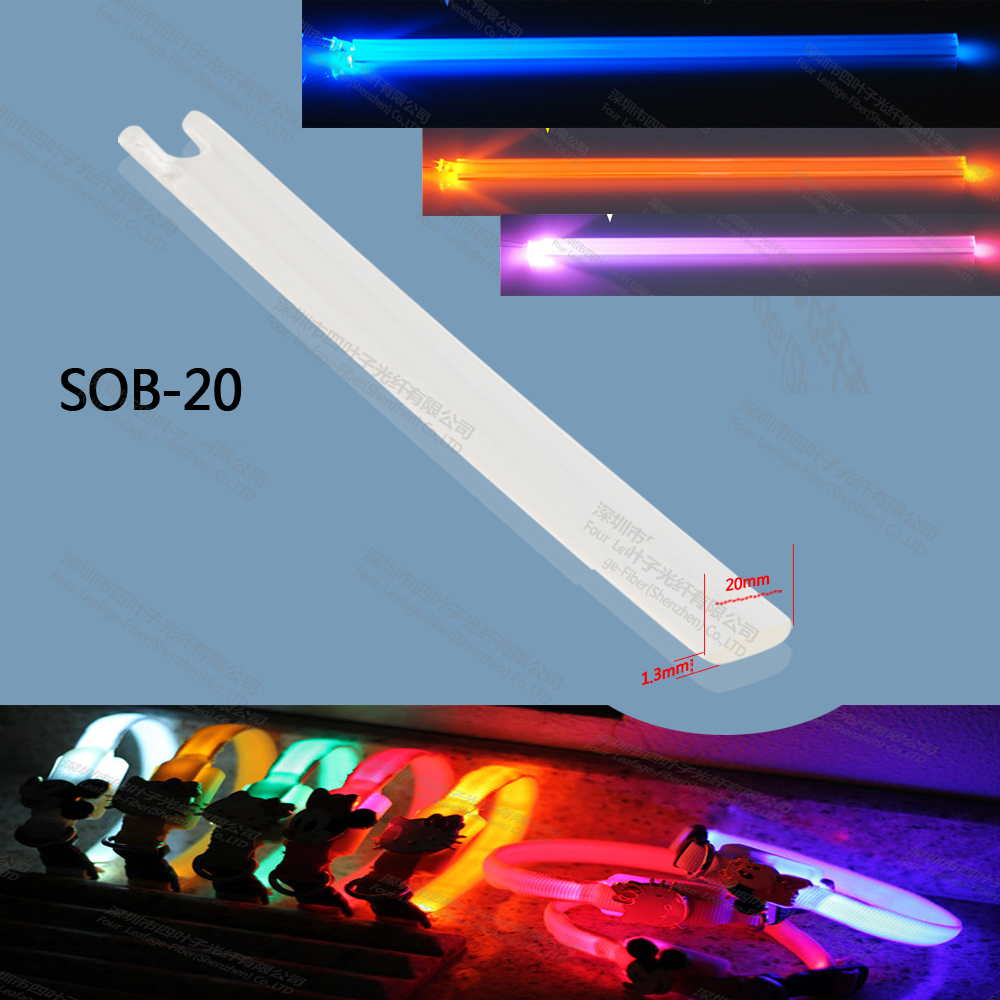 kilang 1.3 x 20mm TPU sisi memancarkan gentian optik lampu bar gentian optik cahaya jahitan