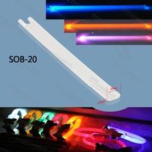factory 1.3 x 20mm TPU side emitting fiber optic lighting wristband collar optical fiber bar