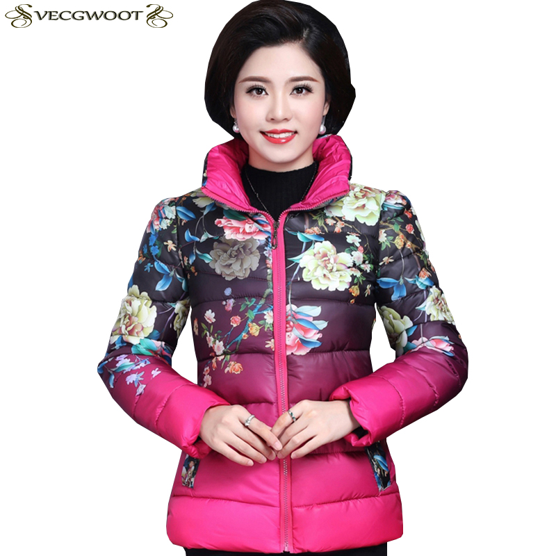green Le Plus gary D'impression Mince Coton pink S534 Femmes Mode Hiver Parkas Rembourré Veste La Nouveaux blue Black Vers Bas De Femelle Taille Chaud qRESW17w