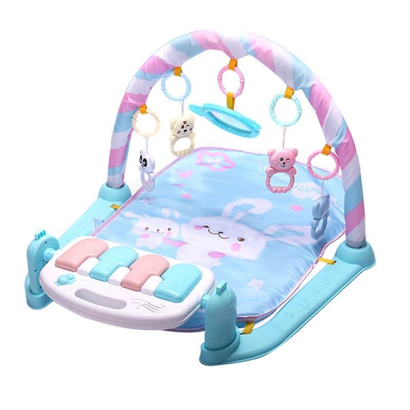 Bébé activité tapis de jeu bébé Gym éducatif Fitness cadre multi-support bébé jouets jeu tapis jouer poser assis jouet avec Piano miroir - 2