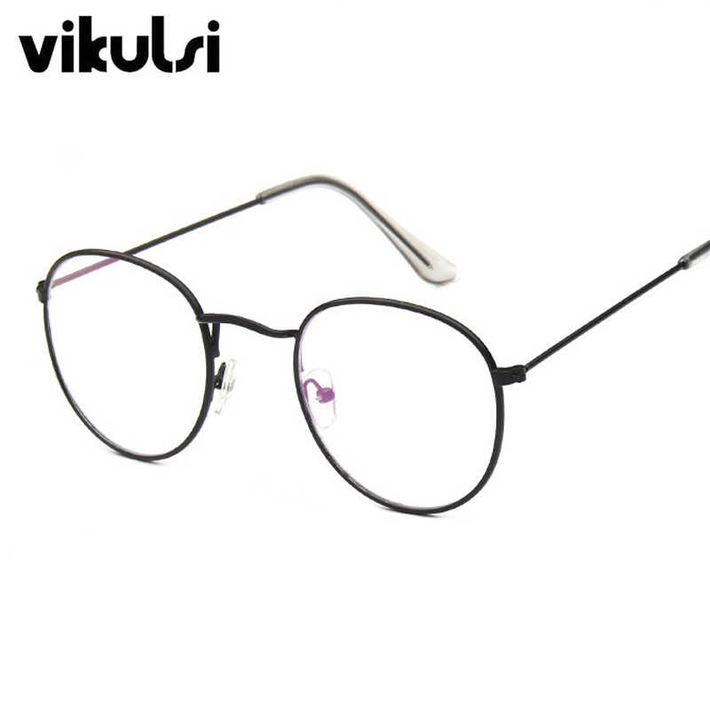 747728a584c Round Clear Glasses Myopia Clear Lens Glasses With Transparent Glasses  Women Men Metal Ray Optical Glass Lunette femme