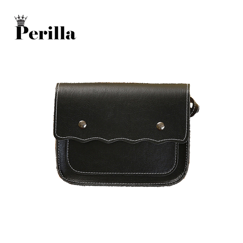 2017 Perilla Famous Designer Shoulder Bags For Women luxury PU Leather Female Crossbody Satchels Solid Bag Messenger Handbag famous messenger bags for women fashion crossbody bags brand designer women shoulder bags bolosa