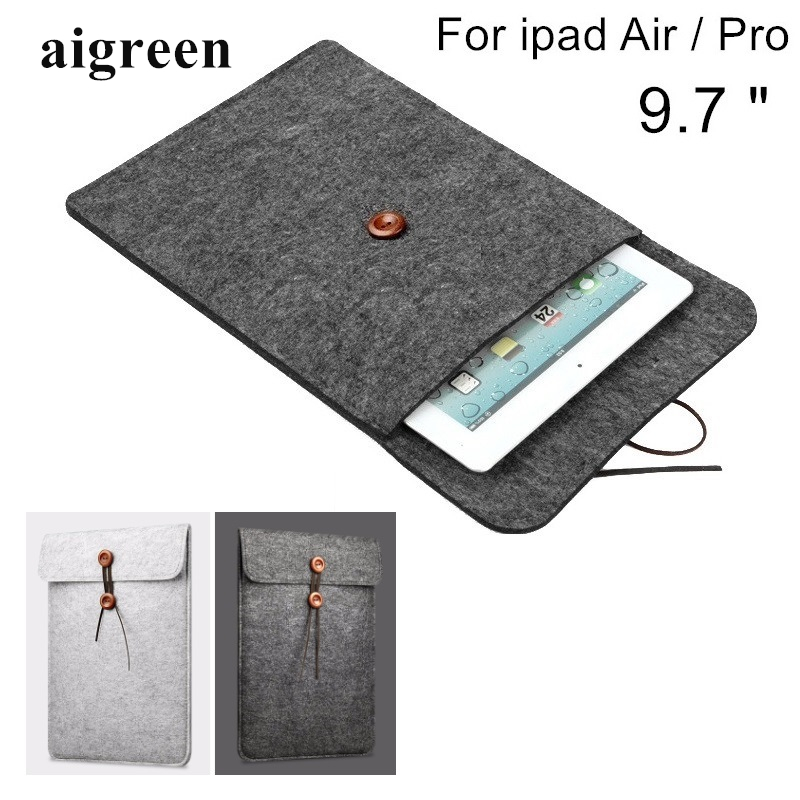 Newest Hot Wool Felt Sleeve Case For Apple Ipad, Bag For ipad Air 1/2, Pouch For ipad Pro 9.7 inch, Wholesales,Free Shiping IC06