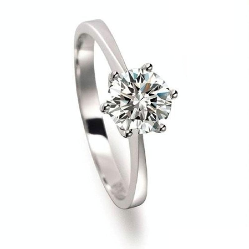 925 Sterling Silver Women Ring Cubic Cz Fashion Cheap