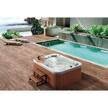 Модная Горячая 3 человек спа ванны Сделано в Китае люкс уличная вихревая Ванна звезда отель гидромассажная ванна спа ванна