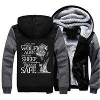 Game Of Throne Hoodie Men Adults Wolf Thicken Zipper Sweatshirts 2018 New Fashion Winter Hoody Jackets Unisex Casual Warm Coat