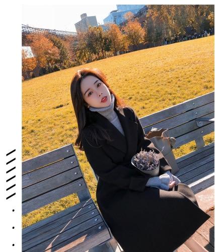 Piel Trench La Outwear Elegante Largo Para Señora Las Feminino Mujeres  marrón Casaco Mujer Abrigo Negro Impermeable Viento Oficina De verde ... c70fd5c002f