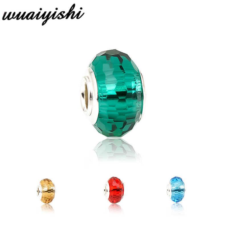 925 bạc beads đối với trang sức làm pha lê hạt phù hợp với Vòng Đeo Tay quyến rũ Vòng Cổ Cô Gái TỰ LÀM bead cho pulsera 9X14mm bead màu Tinh Khiết