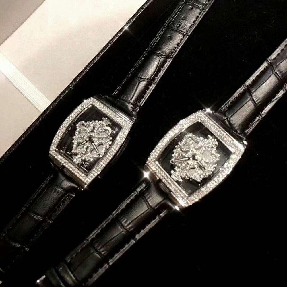 Chaud haute qualité haut tendance marque de luxe carré argent femmes montres Quartz diamant en acier inoxydable montre femmes
