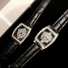Hot High Quality Fashion Top Brand Luxury Square Silver Women Watches