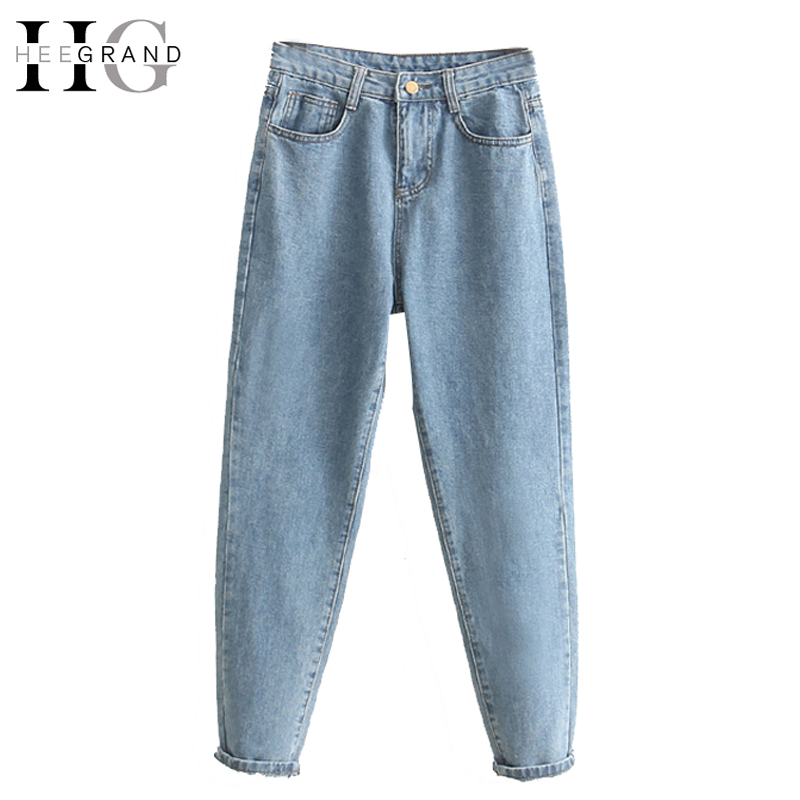 HEE GRAND 2018 Ankle-Length Mom Jeans s