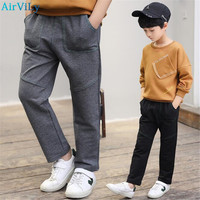Spring Autumn Kids Boys Pants Casual Toddler Pants Boys Trousers 2018 New Pockets Teen Cargo Pants