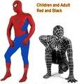 Los nuevos Mens Adultos/Niños Boy Spiderman Cosplay Disfraces de Halloween Lycra Zentai Traje de Superhéroe Traje de Cuerpo Completo de Tamaño Completo