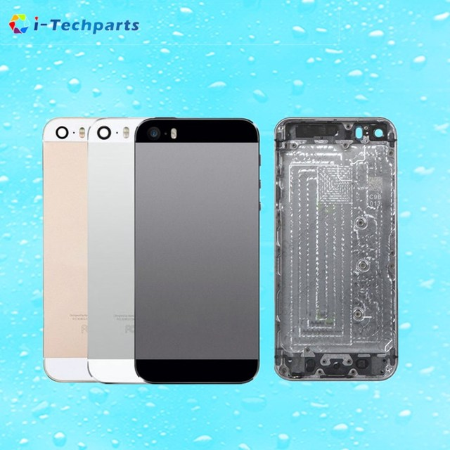 New Original For iPhone 5S Full Housing Back Battery Door Cover Middle Frame Metal Back Housing Replacement with Logo