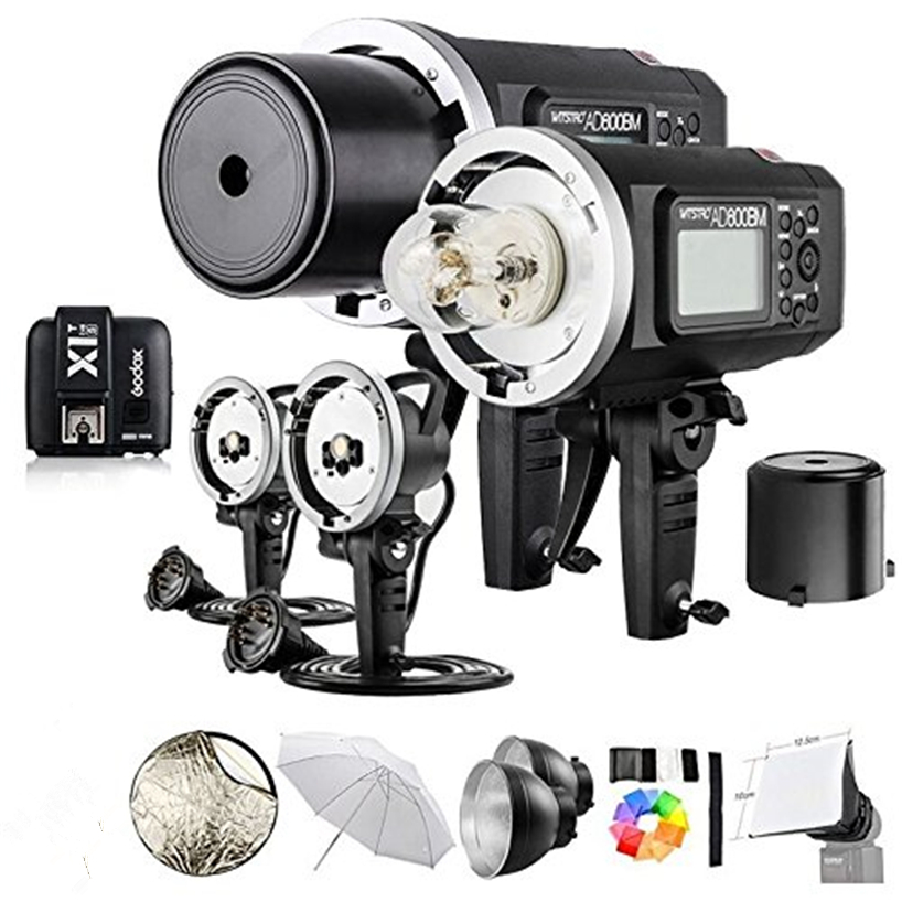 2 Pcs <font><b>Godox</b></font> <font><b>AD600BM</b></font> 600Ws GN87 HSS Outdoor Flash Monolight + X1T Wireless Flash Transmitter for NIKON/ SONY/CANON/Olympus/Fuji image