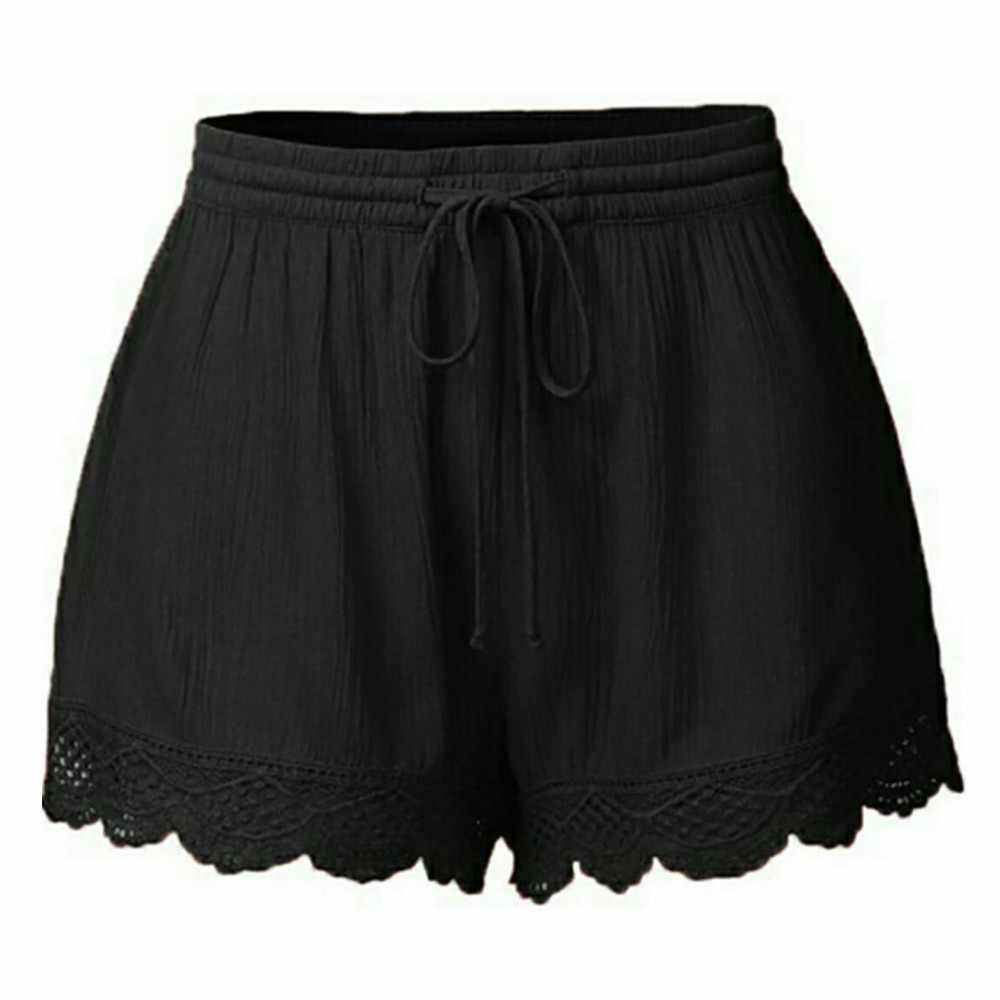 สไตล์บาร์กางเกงขาสั้นสตรี Femme เซ็กซี่ Lace PLUS ขนาดเชือก Tie กางเกงขาสั้นผู้หญิงกางเกงกีฬากางเกงขาสั้น Feminino Spodenki กีฬา