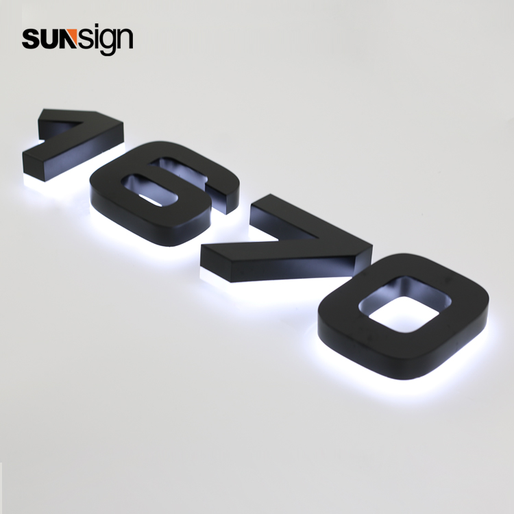 Outdoor Lighted Channel Letter Sign Backlit Halo Lit House Number