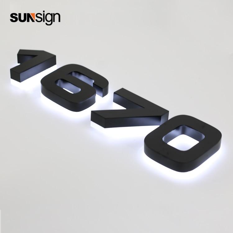Outdoor Lighted Channel Letter Sign Backlit Halo Lit House Number