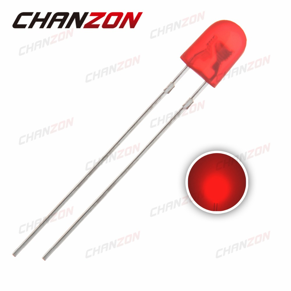 Diodes Dependable 100pcs 5mm Dip Red 546 Diffused Oval Led 20ma Dc 2v 620-625nm Light Emitting Diode Lamp Through Hole Bulb Electronics Components Chills And Pains Active Components