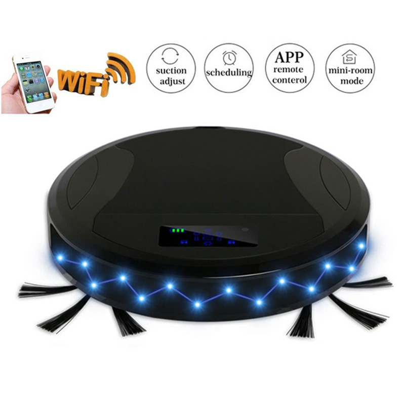 2018 PAKWANG WiFi APP Robot Vacuum Cleaner Sweep Mopping Robot Aspirador Power Suction Dry Wet цена и фото