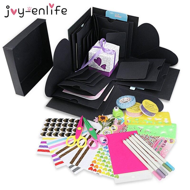 JOY-ENLIFE DIY explosión caja regalo de boda de explosión caja aniversario creativo Scrapbook DIY álbum de fotos de cumpleaños regalo sorpresa