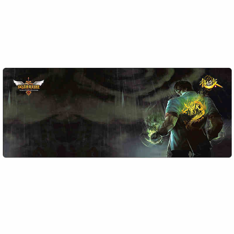 New Large Gaming Mouse Pad Red/Blue Locking Edge Mousepad Mouse Mat Keyboard Mat Table Mat For Dota CS Go ...